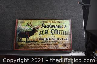 Elk Camp Sign