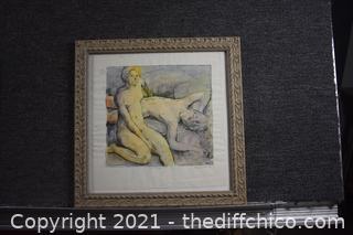 Framed Signed Original Etching by Frank Stack
