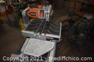 Ridgid Laser Saw w/folding stand