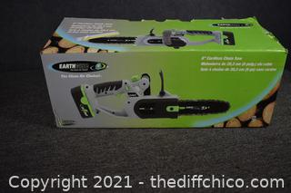 NIB 8in Eathwise Chainsaw, Battery and Charger