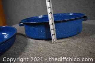 Blue Granite Roasting Pan