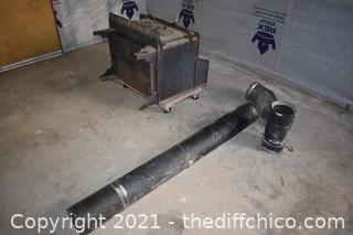 Cast Iron Wood Stove plus Stove Pipe