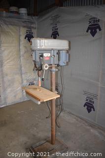 Working Rockwell Drill Press