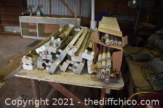 Lot of Fluorescent Light Fixtures and More