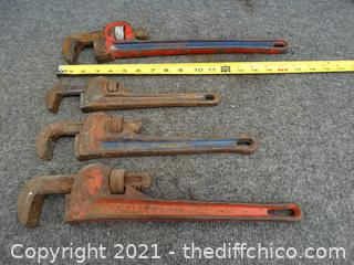 4 Pipe Wrenchs