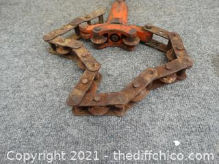 Vintage Toledo Beaver Chain Pipe Cutter