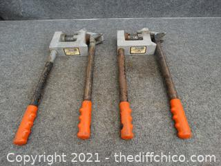 2 Ensley Model E-200 Metal  Stud Punch