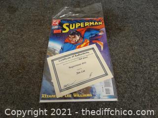 Superman Comic Book Signed