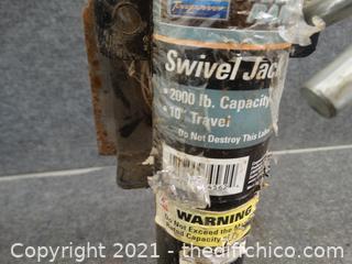 """Swivel Jack 10"""" Height Adjustable"""