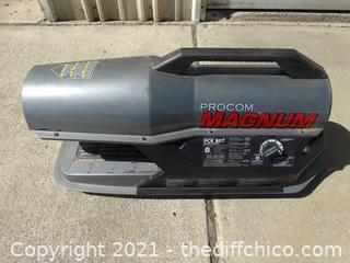 Procom Magnum PCK-80T Blow Heater Works Like New Kerosene, Diesel