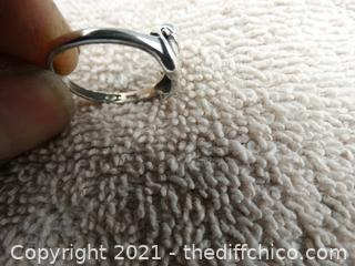 925 Silver Ring Size 7    2 Grams