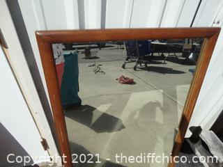"""Framed Mirror 29"""" X 43"""""""