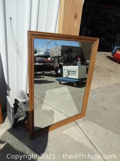 """Framed Mirror 34"""" x 44"""""""