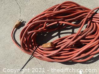 100FT Orange Ext Cord