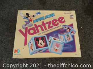 Mickey Mouse Yahtzee Game