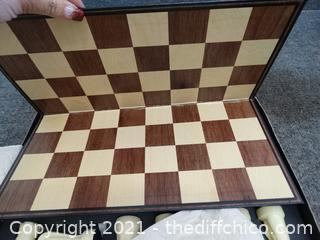 Sculptured Chess Game