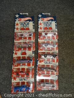 Hot Wheels Set 1-10 Stars & Stripes Series