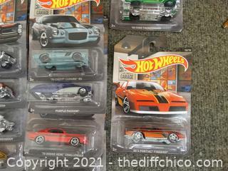 Hot Wheels Garage Set Of Cars    #1- #10