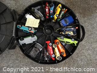 Rally Hot Wheels case With Cars