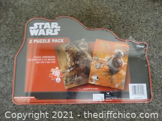 Sealed Star Wars  2 Puzzle Pack
