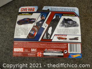 NIB Marvel Civil War Capitan America & Black Panther