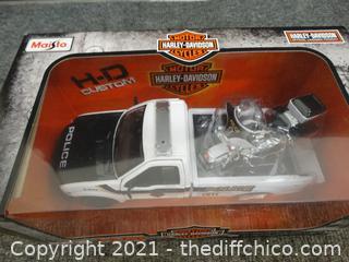 Harley Davidson Truck & Motorcycle Set NIB