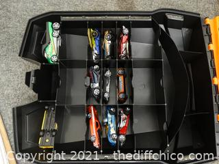 Hot Wheels Rolling Case With Cars