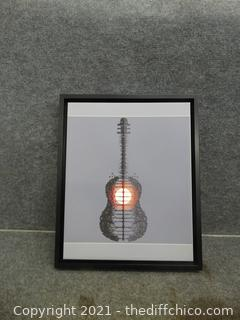 """Guitar Picture 22 1/2""""  x 18 1/2"""""""