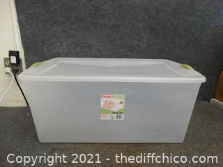 """Sterilite Container With Lid  105qt 32"""" X 19 """" X 13 1/2"""""""