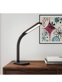 HAMPTON BAY 24 in. Black LED Desk Lamp with Advanced Control Features