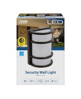 11.5-Watt Bronze Outdoor Security 6 in. Half Moon Dusk to Dawn Photocell Sensor Integrated LED Wall Pack Light