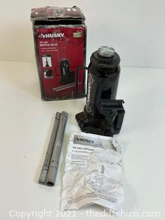 HUSKY 12-Ton Hydraulic Bottle Jack (Pre-owned Tested)
