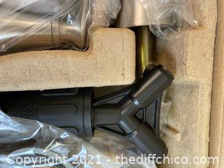 ($107.26) NEW Jaida 8 in. Widespread 2-Handle Bathroom Faucet in Spot Defense Brushed Nickel