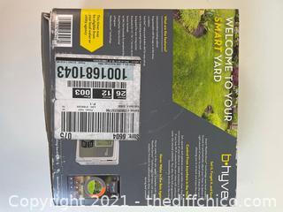 ($107) ORBIT B-hyve 6-Zone Indoor/Outdoor Smart Sprinkler Controller, Works with Amazon Alexa