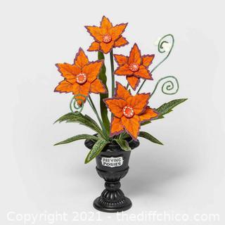 Orange Preying Posies Medium Faux Plant Halloween 2020 Hyde & Eek Target