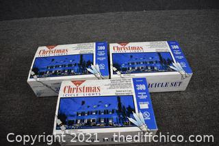 3 full Boxes of Icicle Light Sets
