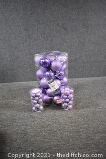 Lot of Purple Ornaments