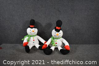 2 - Christmas Snowmen - 22in long