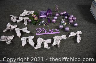 Purple Christmas Decorations