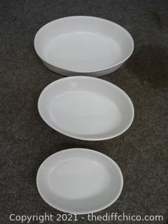 Set of 3 Casserole Dishes