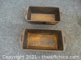 2 Cast Iron Lodge Pans see pics