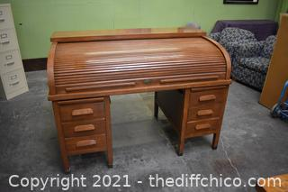 Roll Top Desk - 3 Pieces