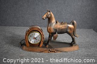 Vintage Horse Clock