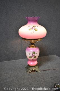 Working Vintage Gone with the Wind Lamp-shade has been repaired-see pictures