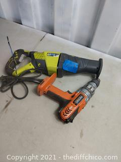 Saws-all & Drill - works
