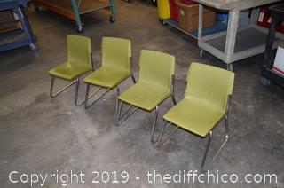 4 Vintage Children Chairs
