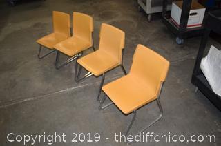 4 Vintage Children Chairs