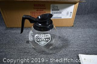 3 New Commercial Coffee Pots / Decanters