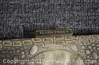 NEW Ellen Tracy Alligator Skin Clutch Hand Bag