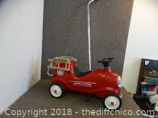Radio Red Flyer Push Car With Handle